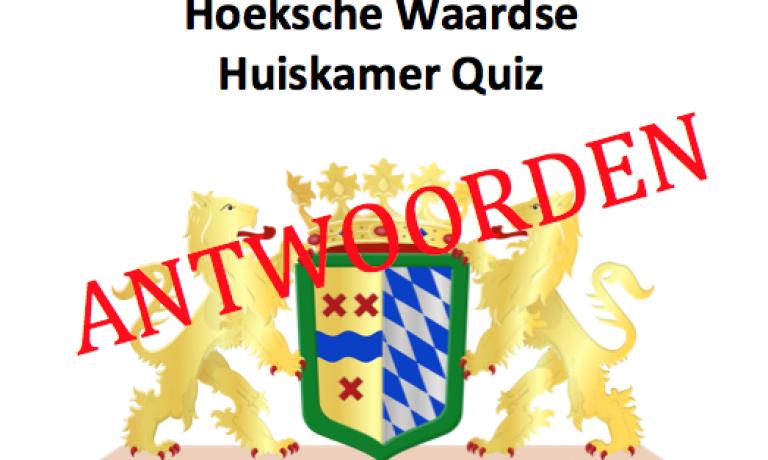 Hoeksche Huiskamer Quiz, de antwoorden